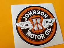 JOHNSON MOTOR OIL Classic Retro Sticker Decal 1 off 85mm