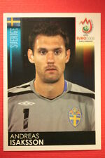 Panini EURO 2008 N. 390 ISAKSSON SVERIGE NEW With BLACK BACK TOPMINT !!