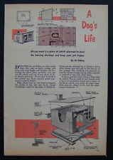 Small Dog House/Cottage for Little dogs 1952 How-To Build PLANS