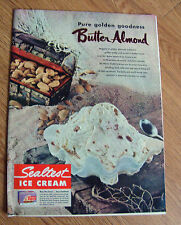 1951 Sealtest Ice Cream Ad Pure Golden Goodness Butter Almond