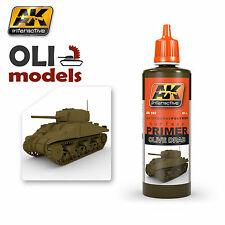 Waterborne Polymer Surface Acrylic PRIMER OLIVE DRAB 60ml - AK Interactive 182