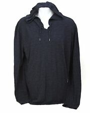 John Varvatos Star USA Men's Heathered Blue Pullover Hoodie Shirt Size XL