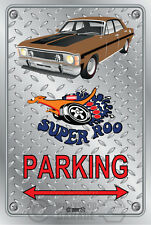 Parking Sign Metal - Ford XW GT 351 Super Roo - grecian gold