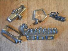 LOT of 5 Emblems Badges VINTAGE CAR PARTS HOOD ORNAMENT BUICK CHEVY TRUCK OLD