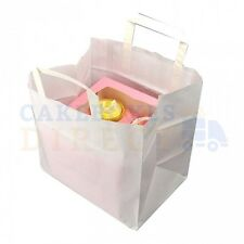 250 X CUPCAKE CARRIER BAG HOLDS A 4 CUPCAKE BOX FREE NEXT DAY DELIVERY*