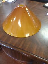 Vianne Cognac or Amber Glass Shades Cone Shape -  Cased Lipless - Lamp - Pendant