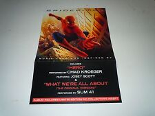 SPIDERMAN~Movie Soundtrack~Promo Poster Flat~Double Sided~12x18~NM Cond~2002