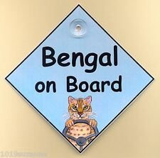 NEW -  BENGAL ON BOARD CAT IN CAR SIGN  SUZANNE LE GOOD