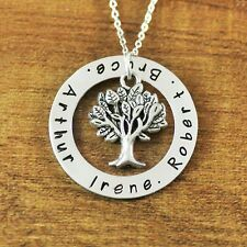 Personalized name necklace, family tree circle Names jewelry, Gift for Mother
