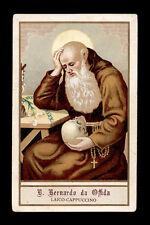 antico santino cromo-holy card B.BERNARDO DA OFFIDA