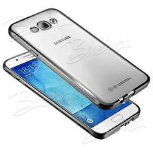 For Samsung Galaxy Phones - Chrome Clear Dot Gel Case Cover + Screen Protector