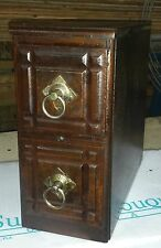 2 ANTIQUE  SINGER TREADLE SEWING MACHINE CABINET DRAWERS,.NICE!