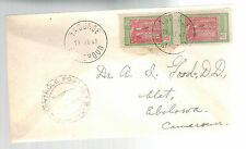 1941 Yaounde Cameroun Censored cover to Ebolowa