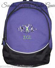 Gymnastics PURPLE School Backpack Book Bag PERSONALIZED monogrammed NEW