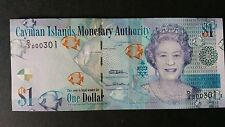 Cayman Islands $1 QE 2010 UNC banknote with low SrNr D/3-000301