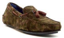 New $185.00 Ted Baker London Brently Moc Loafer, GREEN SUEDE, Men's 12 M US
