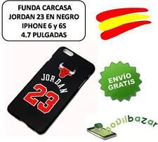 """FUNDA CARCASA IPHONE 6 Y 6S 4,7"""" NBA BULLS MICHAEL JORDAN 23 NEGRO.DESDE ESPAÑA"""
