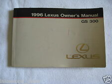 1996 LEXUS GS300 OWNER'S OWNERS MANUAL (BOOK ONLY)