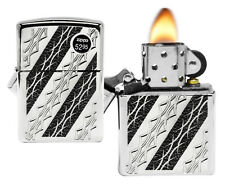 Zippo 29235 Tattoo Elegance Armor Deep Carved High Polish Chrome Pocket Lighter