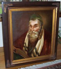 large original oil painting of Jewish Rabbi by Kurtis from The W. T. Burger Co.