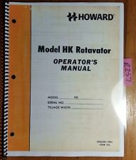 "Howard HK Rotavator 38"" Rotary Tiller Owner's Operator's Manual FORM 184 1/82"