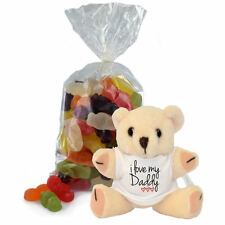 I Love my Daddy Cute Teddy Bear and Jelly Babies Sweets Bag fathers day Gift Set