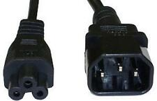 Mains IEC Male C14 to IEC Female C5 Power Extension Cable 2m