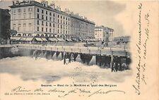 B22156 Geneve Pont de La Machine et quai des bergues used 1900 switzerland