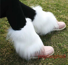 New Fashion Boot Cuff Fluffy Soft Furry Faux Fur Leg Warmers Boot Toppers 20 cm