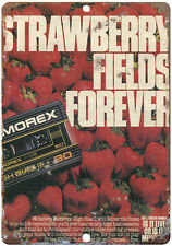 "Memorex Strawberry Fields Forever 10"" x 7"" Reproduction Metal Sign"