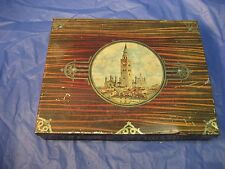 VINTAGE CREMONA TIN WITH VIEW OF QUAINT ITALIAN CITY AND TOWER