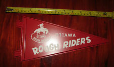 LAST ONE Vintage 1960's/70's Ottawa Rough Riders plastic pennant (NEW OLD Stock)