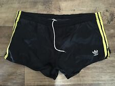 Vintage Adidas Sports Shorts 80s Sprint Retro Black Rare Run Glanz W38 XL