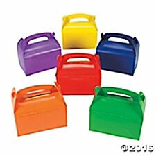 12 Cardboard Brightly-Colored Treat Boxes Birthday Baby Shower