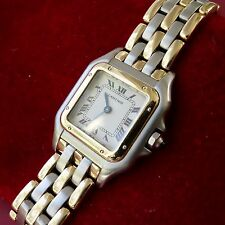 Cartier Panther Three Rows Gold w/ Steel Small Ladies Watch  - Time & Tide