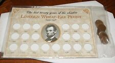 Lincoln Wheat-Ear Penny 1939 to 1958 Set Last Twenty Years of the Obsolete