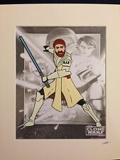 Star Wars - The Clone Wars - Obi Wan Kenobi - Hand Drawn & Hand Painted Cel