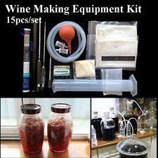 15Pcs/Set Home Wine Making Equipment Beginner Kit DIY Home Brew Brewing Supplies