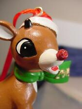 RUDOLPH The RED NOSED REINDEER glitter nose DEPARTMENT 56 CHRISTMAS ORNAMENT NEW
