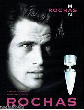 PUBLICITE ADVERTISING 096  1999  Rochas Man  eau de toilette homme