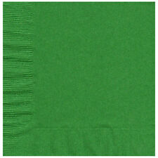 50 Plain Solid Colors Luncheon Dinner Napkins Paper -Emerald/Kelly Green