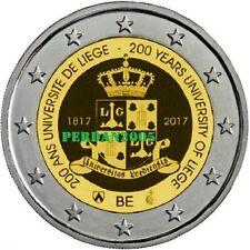 BELGIO 2017 2 EURO UNC UNIVERSITA' DI LIEGI LIEGE LÜTTICH BELGIUM BELGIEN