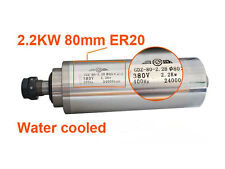 3 Bearing AC380V Spindle Motor 2.2KW Water-Cooled ER20 80mm CNC Router Engraving