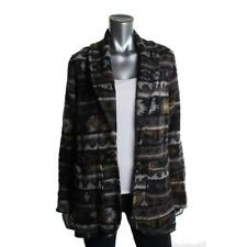 MIRACLEBODY NEW Gray Navajo Blanket Open Front Cardigan Sweater Jacket M