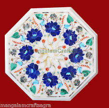 "12"" Marble Coffee Table Handmade Pietra dura Inlay Art Home Decor & Gifts"