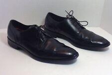Cole Haan C11627 Lenox Hill Mens 11 M Black Leather Split Apron Oxfords $198