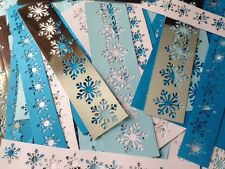 100+ JOB LOT Giant card Embossing Stencil craft making SNOWFLAKE 220gsm