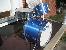 BLUE ROYCE VINTAGE ORIGINAL DRUM SET KIT ! 3 PC. 20,12,14 !!! CLEAN , COMPLETE !