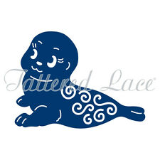 Tattered lace metal cutting die baby Seal christmas winter  cute   D1006