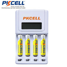 4 AAA Rechargeable Batteries Nimh PKCELL + AA AAA Battery Charger For Nimh NiCD